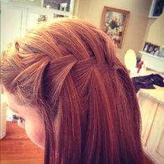 Waterfall #hairstyle #girl hairstyle #Hair Style