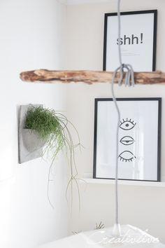 Wandtopf und Schalen Papercrete - Upcycling von Eierkartons zu Papierbeton
