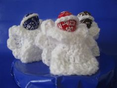 Angel Lollipop Covers Set of 3 by thecrochetloft on Etsy, Promotion Party, Christmas Gifts, Crochet Christmas, Suckers, Xmas Crafts, Angel, Lollipops, Unique Jewelry, Handmade Gifts