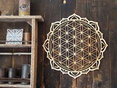 Bohemian Wall Decor, Ethnic Decor, Bohemian Style, Wooden Wall Art, Wood Wall, Mandala Design, Mandala Art, Fractal Design, Moroccan Wall Art