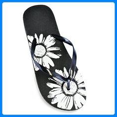 Dames Flower Print Flip Flops - Zehentrenner für frauen (*Partner-Link)