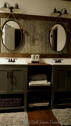 Bathroom mirror ideas ionsider, these solutions for awkward layouts or to just bring a little .. #homeCountry