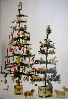 lovely antique victorian feather tree ornaments i just love these photo via web