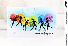 A Kept Life: TupeloDesignsLLC - Lavinia Faeries! #fairy #faerie #lavinia #stamp #stamping #rainbow #card #cardmaking