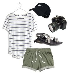 Chaco hike #4 by sydneykick on Polyvore featuring polyvore, fashion, style, Madewell, Chaco, NIKE and clothing