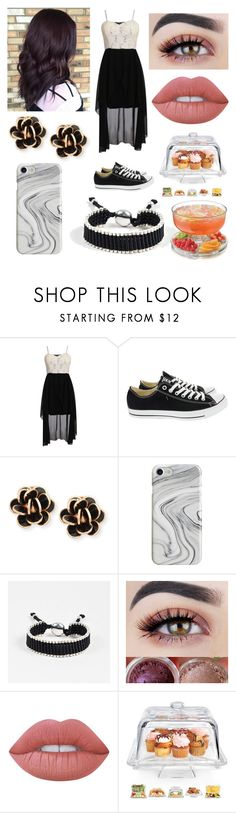 """Untitled #1048"" by thirtysecondsatthepityparty ❤ liked on Polyvore featuring Pilot, Converse, Chantecler, Recover, Links of London, Lime Crime, Home Essentials and Libbey"