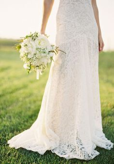 """all white bouquet! love! but garrett doesn't want to wear all white because """"it's not a color"""". :P"""