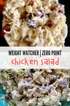 Easy lunches are the best way to go for a busy mom trying to stay healthy and use here down time to be productive. This quick and easy chicken salad recipe is perfect to eat all week, carry along for a picnic or serve at a party or shower. WW Zero point for one serving #zeropoint #weightwatcher #healthychickensalad #wwrecipes Skinny Recipes, Ww Recipes, Fall Recipes, Holiday Recipes, Spaghetti Squash Sauce, Slow Cooker Venison, Skinny Lasagna, Swiss Steak, Skinny Taste