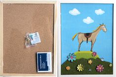 cork pinnwand  (acrylfarbe, Wollfllz, freezer papier)
