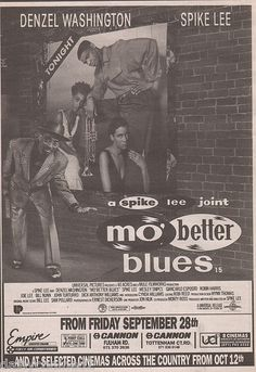 "VINTAGE MOVIE AD - ""MO BETTER BLUES"" DENZEL WASHINGTON SPIKE LEE - 1990"