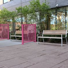Maglin's new FLEXX stylized panels offer solutions for controlling the flow of foot traffic and delineating spaces and maintaining safe distancing during the COVID-19 pandemic. #Maglin #MaglinSiteFurniture #Covid19Resource #Covid19Solutions #Healthcare #Architecture #LandscapeArchitecture Outdoor Privacy Panels, Healthcare Architecture, Outdoor Rooms, Outdoor Decor, Steel Panels, Garden Chairs, Bar Chairs, Condos, Furniture Projects