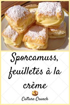 French Food, Custard, Tea Time, Cake Recipes, Sweet Tooth, French Toast, Deserts, Good Food, Food And Drink