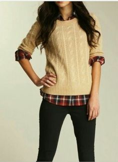 Fall fashion plaid layering. Hi, yes, I would like five variations of this outfit