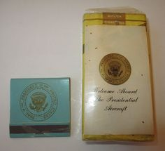 Pack of Chesterfield cigarettes and book of matches from either Johnson or Nixon Presidential Aircraft