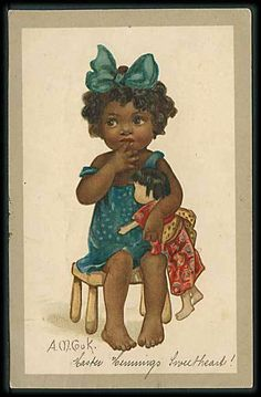 """Girl with Doll"" (1914) from cornucopia on Ruby Lane"