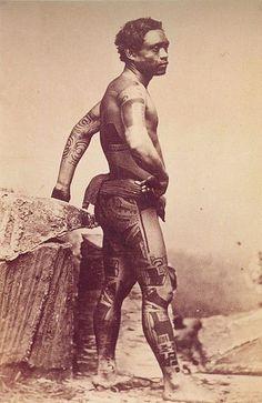 Traditional Maori Tattoo of New Zealand - Ancient History Encyclopedia Polynesian Men, Polynesian Culture, Tahiti, Maori Designs, Tattoo Designs, History Encyclopedia, Traditional Tattoo Design, Marquesan Tattoos, Marquise