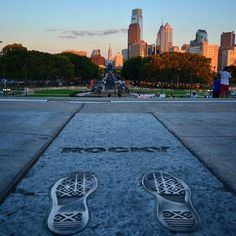 Philadelphia from the top of the Art Museum steps. (Photo by @rockybalboa_ on Instagram)