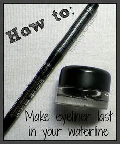 How to - Make Eyeliner Last in Your Waterline