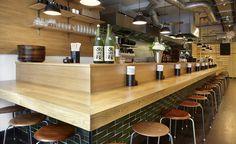 Best London Bar and Restaurant Openings of 2013 Sushi Bars, Ramen Bar, Ramen Shop, Japanese Restaurant Interior, Restaurant Interior Design, Japanese Bar, Japanese Udon, Noodle Restaurant, Noodle Bar