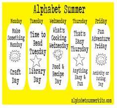 Alphabet Summer Schedule