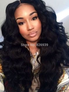 2015 High Quality Brazilian Full lace wig & Lace Front Wig Wavy Human Hair wig for Black Women