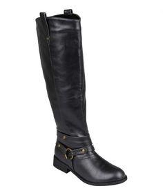 Black Bailey Wide-Calf Boot #zulily #zulilyfinds