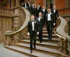 groom in a bowtie - so romantic!