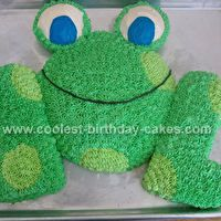 Frog Cut Up Cake By Dana Bovill Cool Birthday Cakes Party