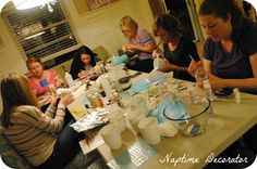 Naptime Decorator: Girls Night #14: Glass Paint Projects