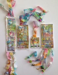 PaperArtsy: 2015 #8 Fabric Tags {by Nicole Maki}