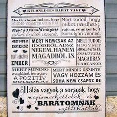 Ebben a házban... szöveges falikép, táblakép a családról (vintagedesign) - Meska.hu Affirmation Quotes, Bff, Affirmations, Diy And Crafts, Alphabet, Lily, Thoughts, Personalized Items, Motivation