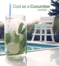 Cool As A Cucumber Drink recipe! Summer perfect poolside or boat drink