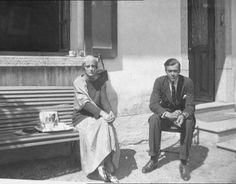 "Princess Irina Alexandrovna Romanova of Russia sitting with brother Prince Feodor Alexandrovich Romanov of Russia. ""AL"""
