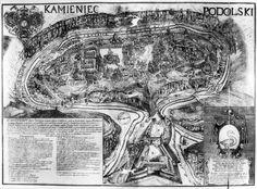 Кам'янець-Подільський. Гравюра Ц. Томашевича 1673-1679 рр.
