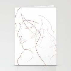 Authîel Minimalist Stationery Cards by weivy Art Prints For Home, Black White Art, Minimalist Art, Ivy, Canvas Art, Stationery, Fine Art, Cards, Portraits