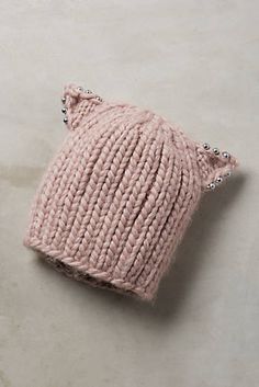 Wool Cat Ear Beanie