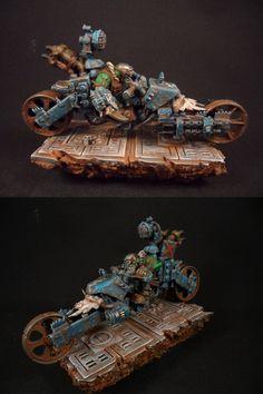 Ork waaagh biker#3, Orks, Kustom, 40k