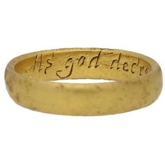 """17th-18th Century Gold Posy Ring """"As god decreed soe wee agreed"""" 1"""