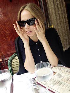 Elin Kling in Kensington Pique by Totême http://www.toteme-nyc.com/shop/aw15/kensington-pique?color=bright-white