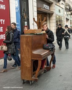 Bringing music to the streets of Antwerp..
