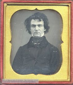 Daguerreotype portrait of William Austin Dickinson, attorney and older brother of the poet Emily Dickinson, early 1850s.