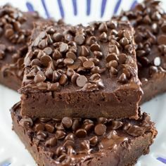 A secret ingredient keeps these brownies rich and fudgy without butter!!