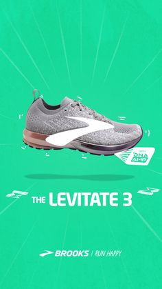Don't just set goals, reach them more easily with Levitate 3 made with DNA AMP technology. Brooks Running Shoes, Run Happy, Social Media Design, Stop Motion, Motion Graphics, Graphic Illustration, Designer Shoes, Eyewear, Design Inspiration