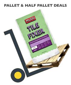 We offer free delivery on MUDD TILE FIXER, it is suitable for fixing floor and wall tiles including: porcelain fully vitrified mosaics quarry brick slips stone claddings interior and exterior areas including patios tiles can be grouted 24 hours after fixing Pallet Deals on MUDD TILE FIXER at BuyThePallet.co.uk Quarry Tiles, Stone Tiles, Concrete Block Walls, Glazed Brick, Patio Tiles, Glazed Ceramic Tile, Adhesive Tiles, Wall Tiles, Interior And Exterior