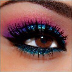 #amazing #beautiful #Makeup #colors #glitter #beauty #cute #fashion   ::)