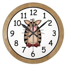Beautiful Country Cat Large Clock