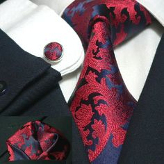 "www.gotknot.com 100% handmade silk Men's neck tie set (tie,cuff links, and handkerchief) Set comes in a beautiful designer keepsake box.  ""See knot, want knot, Got Knot"" $49.96"