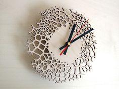 Small wall clock  Giraffe clock  laser cut by AsymmetreeDesign, €69.00