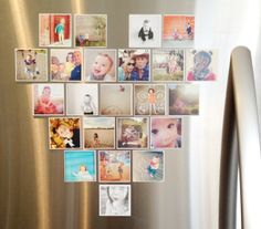 Daffodil Design - Calgary Design and Lifestyle Blog Stick to a mirror and hang at a 1 year old party to display first year photos!