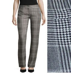 Worthington Womens Pants Max Plaid Modern Fit Trousers Leg Relaxed size 14 NEW Slacks, Trousers, Women's Pants, Ankle Pants, Slim Legs, Workout Pants, Size 16, Thighs